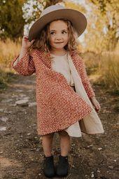 Longline Coat for Little Girls | ROOLEE
