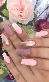 58+ Stylish und Bright Summer Nail Design Farben und Ideen – uñas y cabello, haar une angel, hair and nails