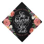 She believed she could, so she did – Girl power Graduation Cap Topper | Zazzle.com