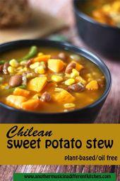 Chilean sweet potato stew: Porotos Granados