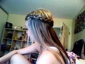 In and out dutch braid!   Only pick up hair from one side of the braid good for half up half down #dutchBraided