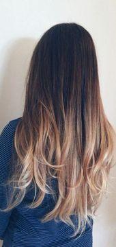 45 Dunkelbraun bis Tan Ombre Lange Haarfarbe Ideen Dies Best 45 # Fashionminis …   – MireyaTeodoro