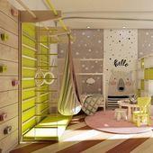 37 Fantastic Childs Room Designs Ideen mit blauen Gelbtönen – HOMYFEED – dekorationcity.com/dekor