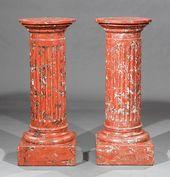 Pair of Italian Scagliola Pedestals on