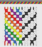 Rainbow Black & White Chevron Bracelet