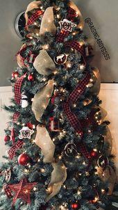 Easy DIY Rustic and Farmhouse Christmas Decorations – Burlap Christmas Trees