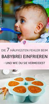 Babybrei einfrieren: Die 7 häufigsten Fehler | Babyartikel.de Magazin