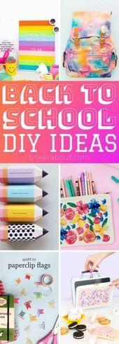 Diy bastelt für Teenie Mädchen Ideen zurück in die Schule