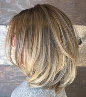 80 sensationelle Haarschnitte von mittlerer Länge für dickes Haar #dicke Frisur   – Dick