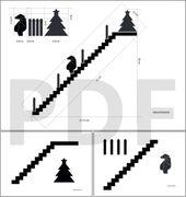 Adventskalender Treppe mit Figuren aus Holz selber…