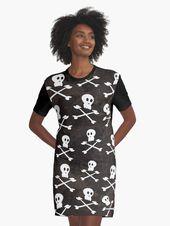 Totenkopf, Knochen, Helloween – Muster Grafikart Design