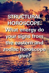 STRUCTURAL HOROSCOPE: What energy do your signs from the eastern and zodiac horoscope give?