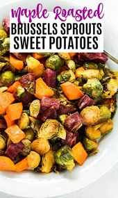 Roasted Brussels Sprouts and Sweet Potatoes   – Healthier Steps