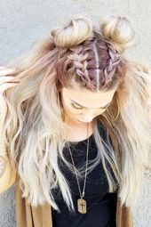 Simple hairstyles for long hair – New hairstyles 2018 – Dress up clothes – #Dress up clothes #Simple #Hairstyles # for #haar