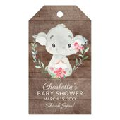 Sweet Elephant Baby Shower Favor Gift Tag | Zazzle.com – baby shower ideas