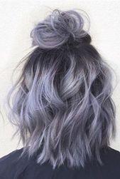 28 Beeindruckendes silbergraues Ombre für kurzes Haar, das Sie in den Mittelpunkt stellt – Kurze Pixie-Schnitte   – HeidiHair