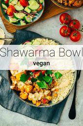 Shawarma Bowl mit Blumenkohl und Kichererbsen
