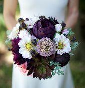 Hochzeitsstrauß, Hochzeitsblumen, saftigen Blumenstrauß, Seide Hochzeitssträuße, Real Touch Bouquet, Boho Bouquet, Pfingstrose Bouquet, lila Bouquet   – Hochzeit