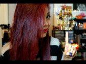 Wie ich meine burgunderroten Haare nachbessere !! YouTube-Kanal: Teaseblendglam