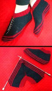Free Knitting Pattern für Easy Cosy Toes Booties – Diese einfachen Hausschuhe sind …