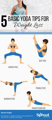 5 grundlegende Yoga-Tipps zum Abnehmen – Ein Leitfaden für Anfänger   – yoga
