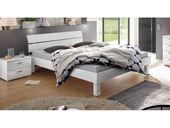 Hochglanzbett Norman – 200×200 cm – weiß – Fußhöhe 25 cm – Designerbett