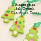 Fingerprint Salt Dough Christmas Trees – Emma Owl