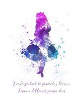 Alice in Wonderland quote ART PRINT illustration by SubjectArt