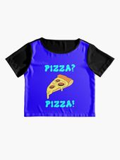 'I love pizza. One true love. Funny quote. A slice of a delicious yummy pepperoni pizza with lots of melted cheese. Best comfort food. Guilty pleasure. Hungry pizza lover.' T-Shirt by MerveilleDesign