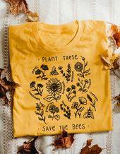 Pflanzen Sie diese, retten Sie die Bienen – T-Stück
