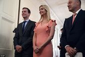 Ivanka Trump and Jared Kushner pictured hand in hand