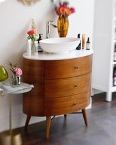 Oh Hey West Elm This California Girl Who Squealed With Glee When You Opened Her Favourite Store In London Just Hacked Your Gorgeous Penelope Dresser So Ha Dresser Vanity Bathroom Cozy House West Elm Dresser