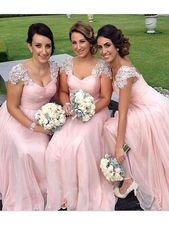 Elegant Prom Dress, Stylish A-Line/Princess Sweetheart Floor-Length Sleeveless Beading Chiffon Bridesmaid Dresses YB33PO587