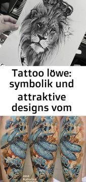 Tattoo löwe: symbolik und attraktive designs vom löwen tattoo für beide geschlechter 1