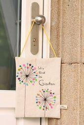 Plaque de porte DIY pour le jardin lui-même   – chantebi