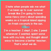 I Hate When Folks How My Summer time Break Went | Humorous Meme | Bored Lecturers