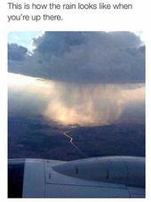 Wie der Regen über den Wolken aussieht