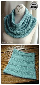5 Simple Cowl Free Knitting Pattern