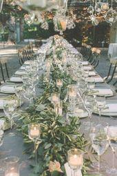 Idea de centro de mesa de boda verde #wdings #wedding #greenery #green #weddingcent …   – wedding ideas green