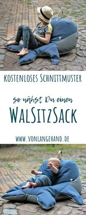 Einen Walsitzsack nähen – kostenloses Schittmuster • von Lange Hand Shop : … – Agli – Nähen