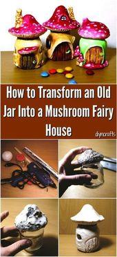 Wie man aus einem alten Glas eine Pilzfee macht – DIY GArden