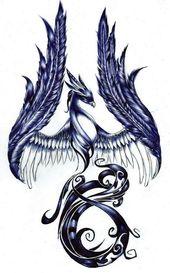 ▷ 1001 + Ideen und Bilder zum Thema Phönix Tattoo!
