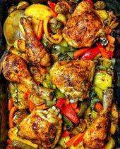 Hähnchen mit Gemüse aus dem Ofen – Rezepte – Kochrezepte – Kochen – Instakoch ….