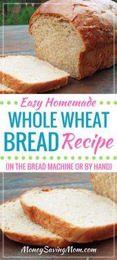 Wenn Sie hausgemachtes Brot lieben, das frisch aus dem Ofen kommt, MÜSSEN Sie dieses selbstgemachte Brot probieren …   – Homemade Bread Recipes