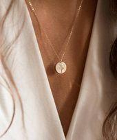 Wildblumen, Special Edition Blumenstrauß Halskette in Gold, Silber oder Roségold • Blumen, personalisierte Geschenke für Sie • LN209, LN213   – FASHION