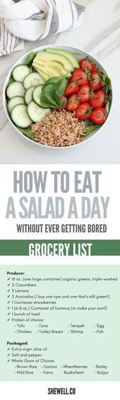 Kostenloser, einfacher Salatführer für den Kickstart Ihres Grüns! Perfekt für Menschen, die vegan sind …   – Salad Recipes