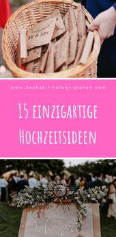 15 einzigartige Hochzeitsideen,  #einzigartige #hochzeitsgeschenkideenlustig #Hochzeitsideen