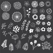 Chalkboard Floral Clipart-Clip Art-Floral Clipart-Chalk Clipart-Rustic Clipart-Boho Clipart-Vector AI und PNG-Instant Download