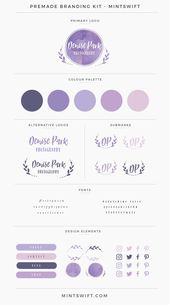 Kit de marca prefabricada de Denise Park   – Paletas de color