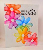 Handmade By Michelle Rainbow Card Cards Handmade Card Art